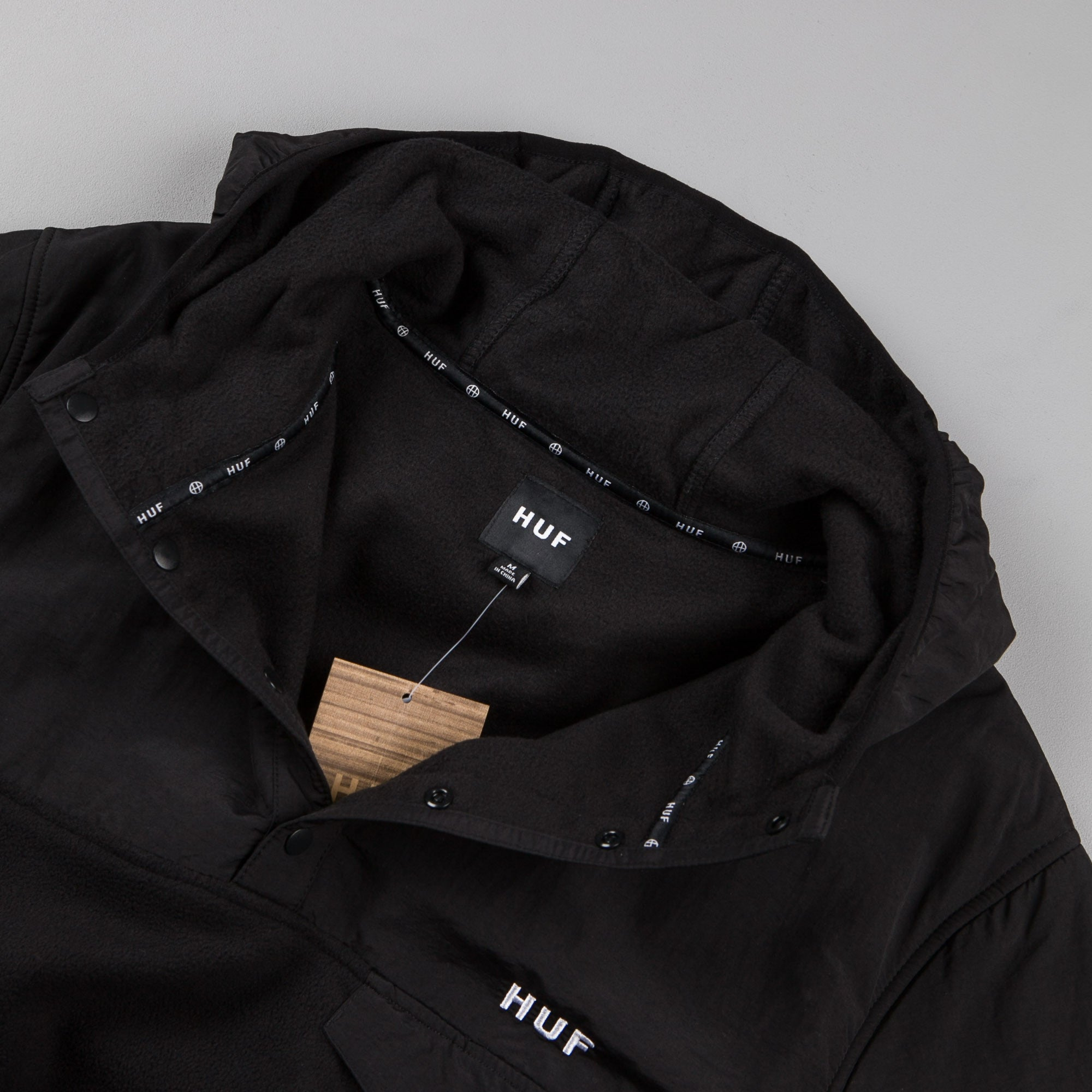 HUF Tofino Polar Hooded Sweatshirt - Black