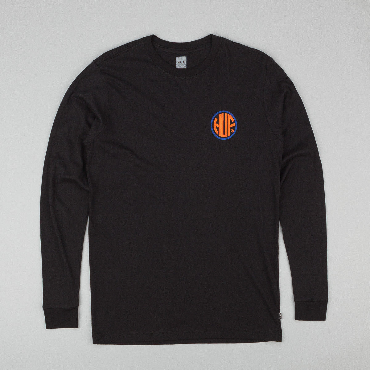 HUF Token Long Sleeve Button Up T-Shirt - Black