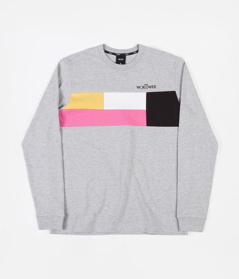 HUF Transition Long Sleeve T-Shirt - Grey Heather