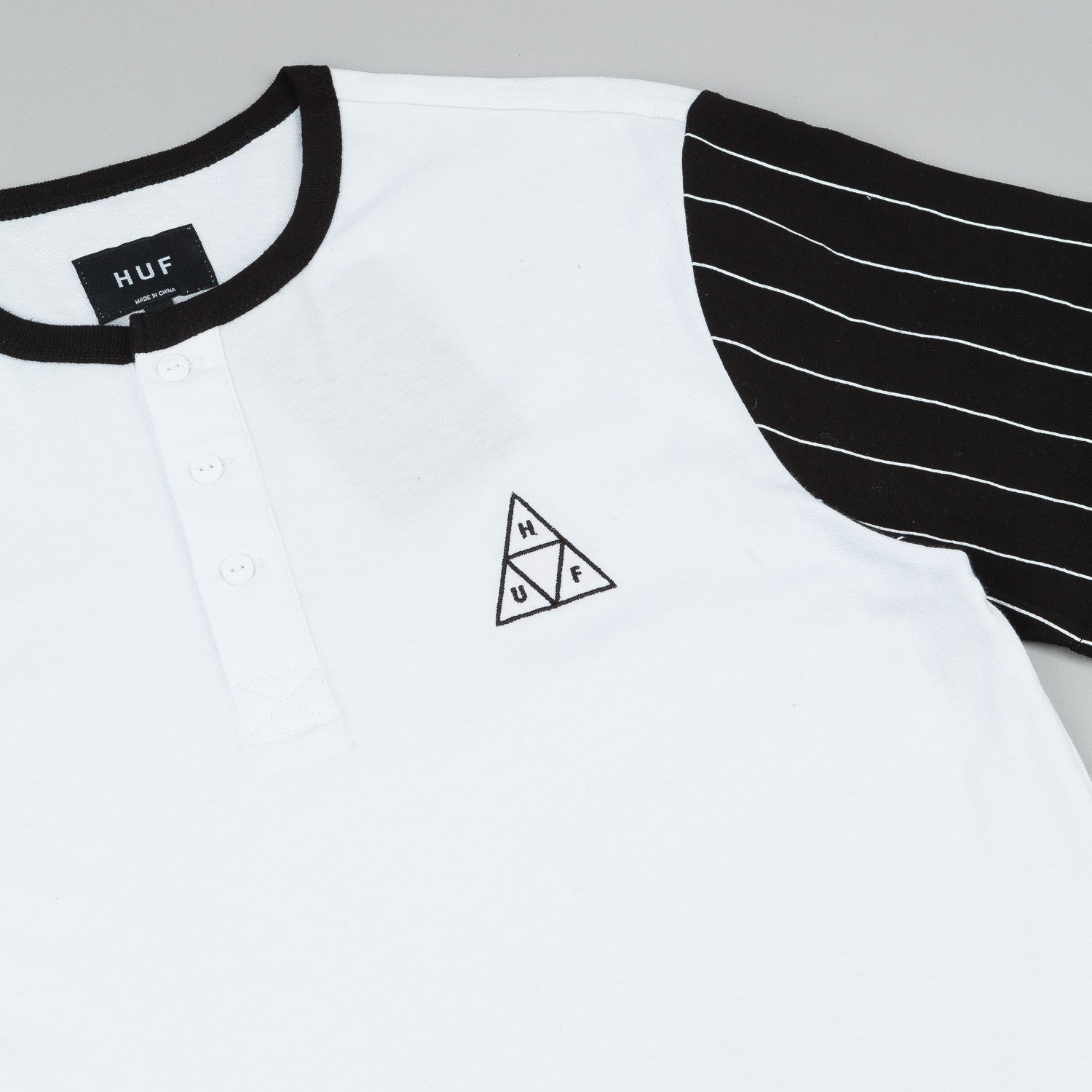HUF Triangle Baseball T-Shirt - White / Black