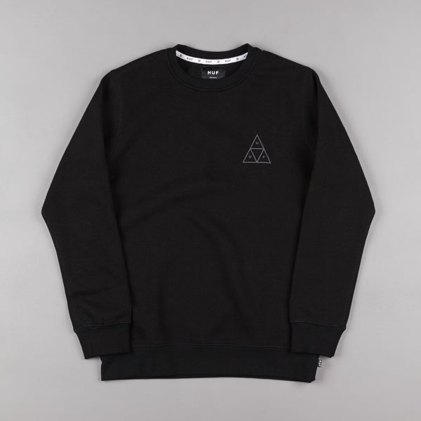 HUF Triple Triangle Crewneck Sweatshirt - Black / Grey