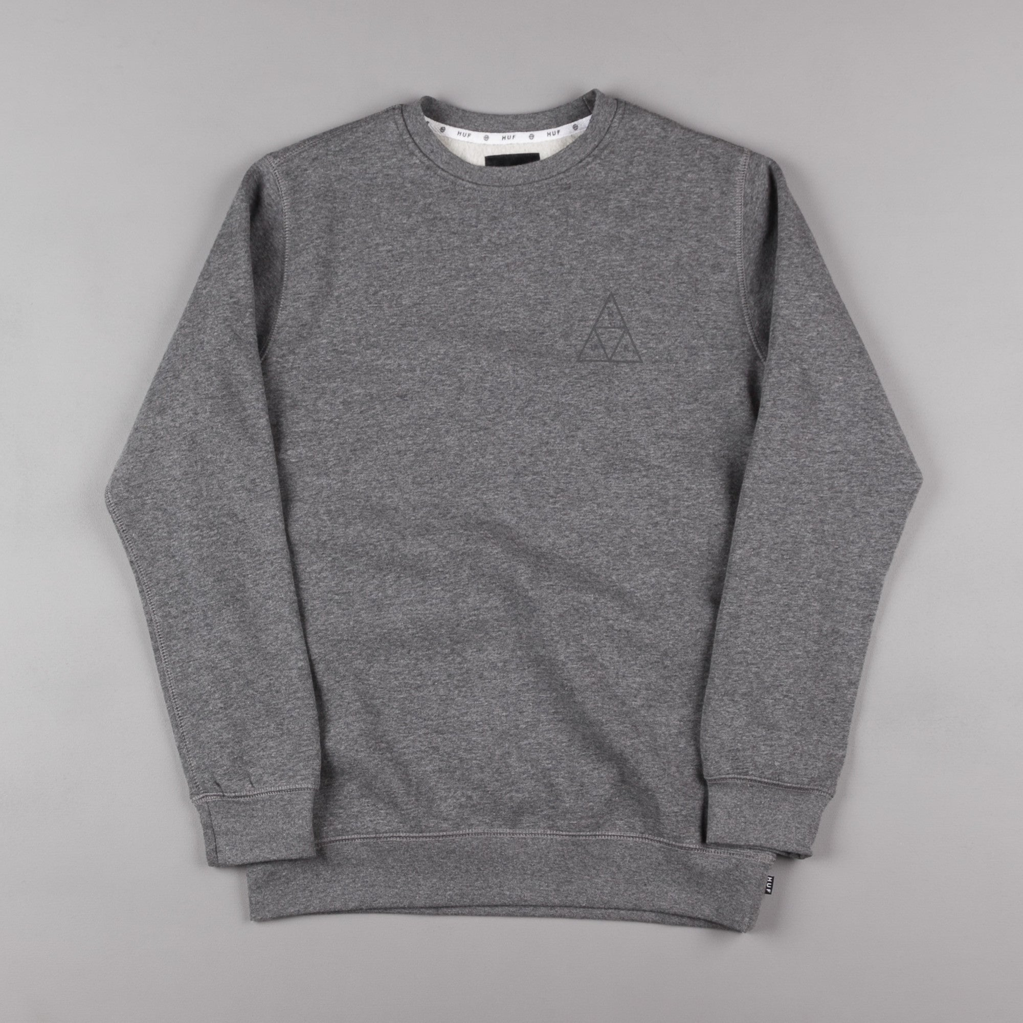 HUF Triple Triangle Crewneck Sweatshirt - Grey Heather