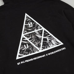 HUF Triangle Rose Hooded Sweatshirt - Black