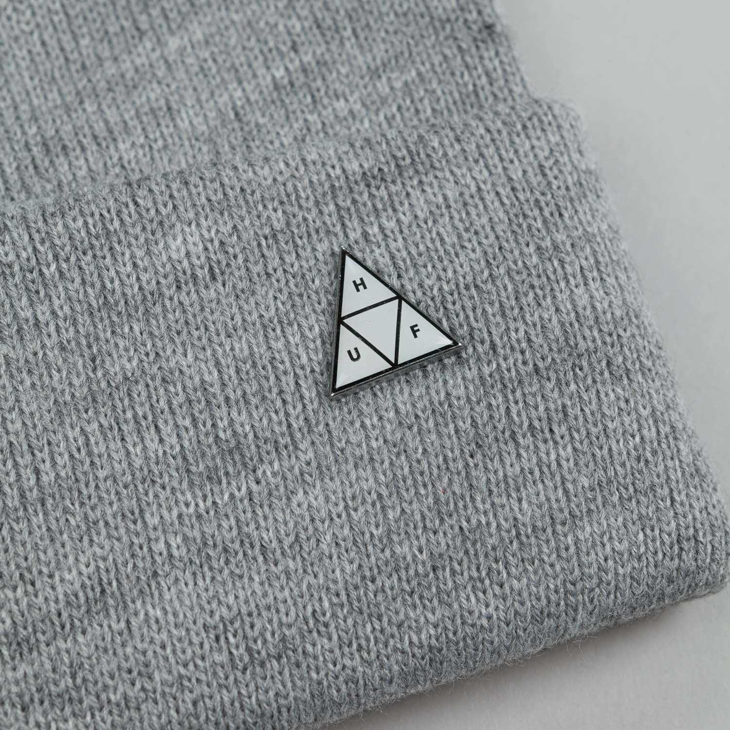 HUF Triangle Service Beanie Grey Heather