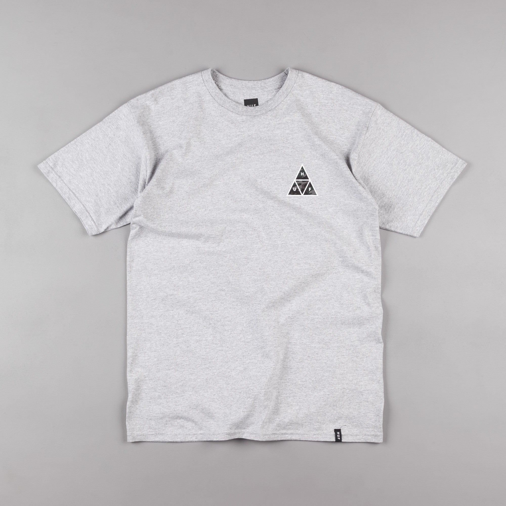 HUF Muted Military Triple Triangle T-Shirt - Grey Heather