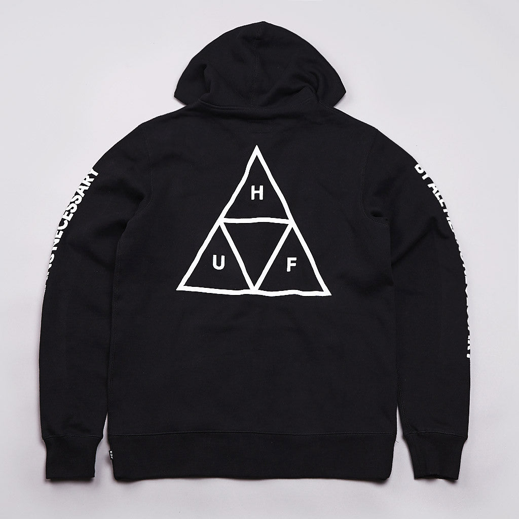 HUF Triple Triangle Fill Zipped Hooded Sweatshirt Black