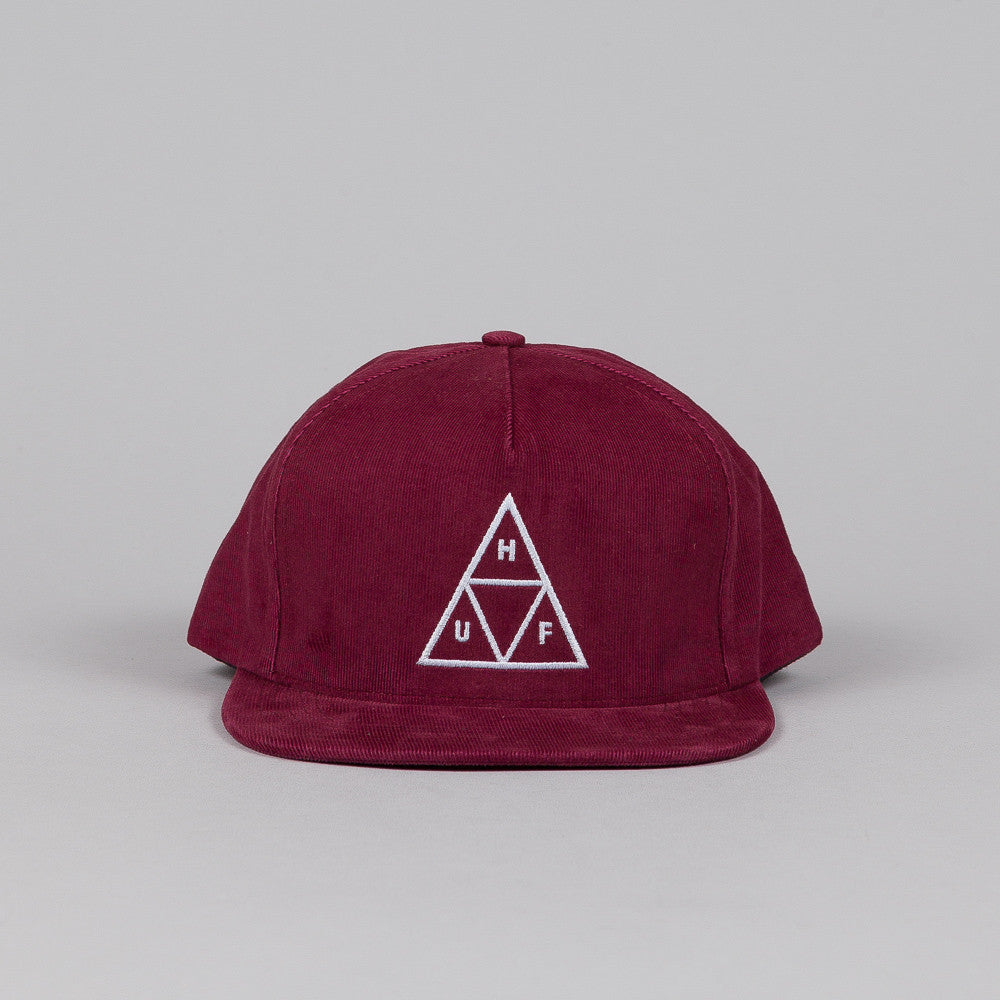 HUF Triple Triangle Snapback Berry