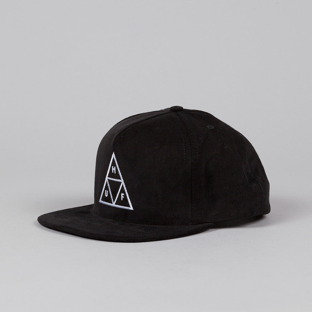 Huf Triple Triangle Snapback Black