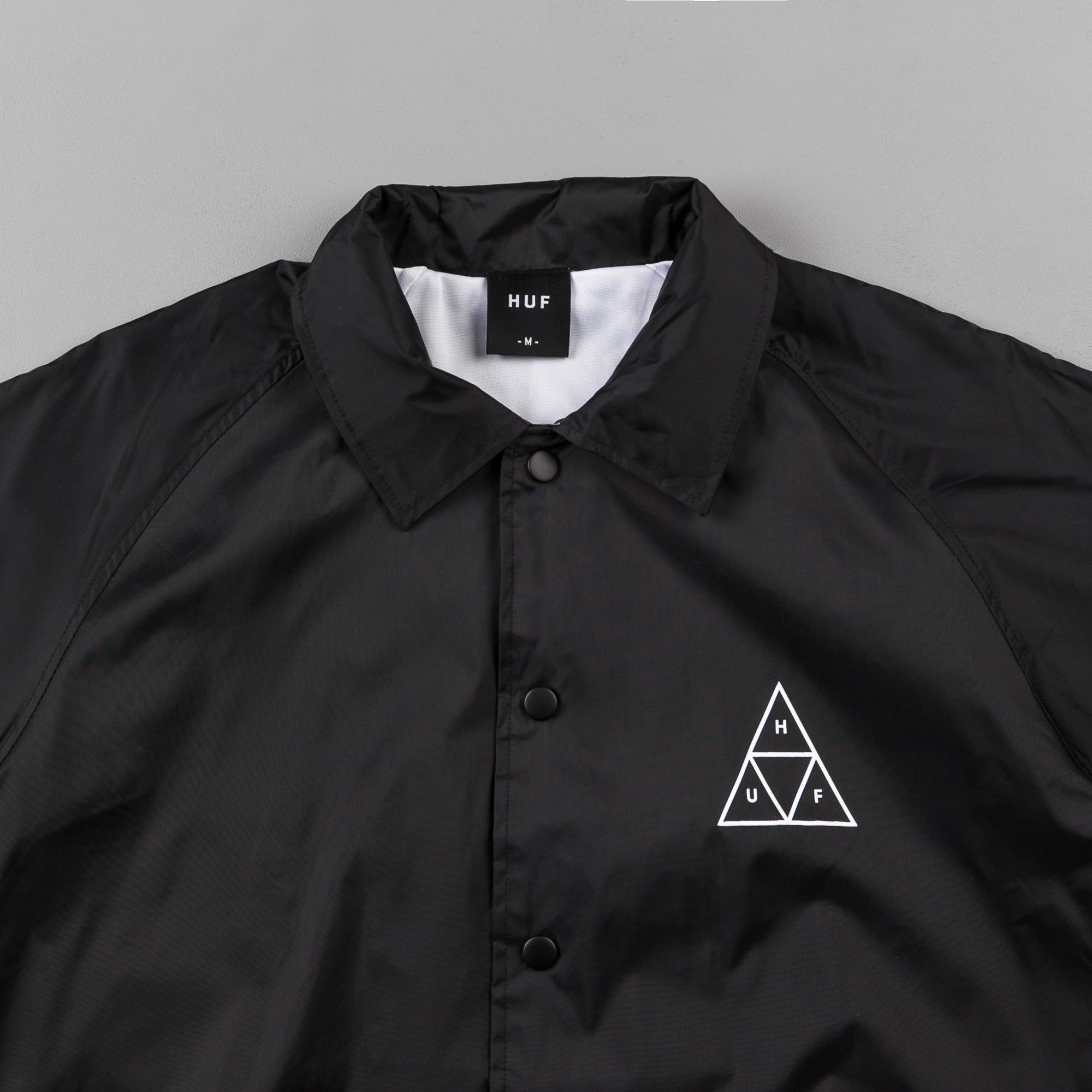 HUF Triple Triangle Coaches Jacket - Black