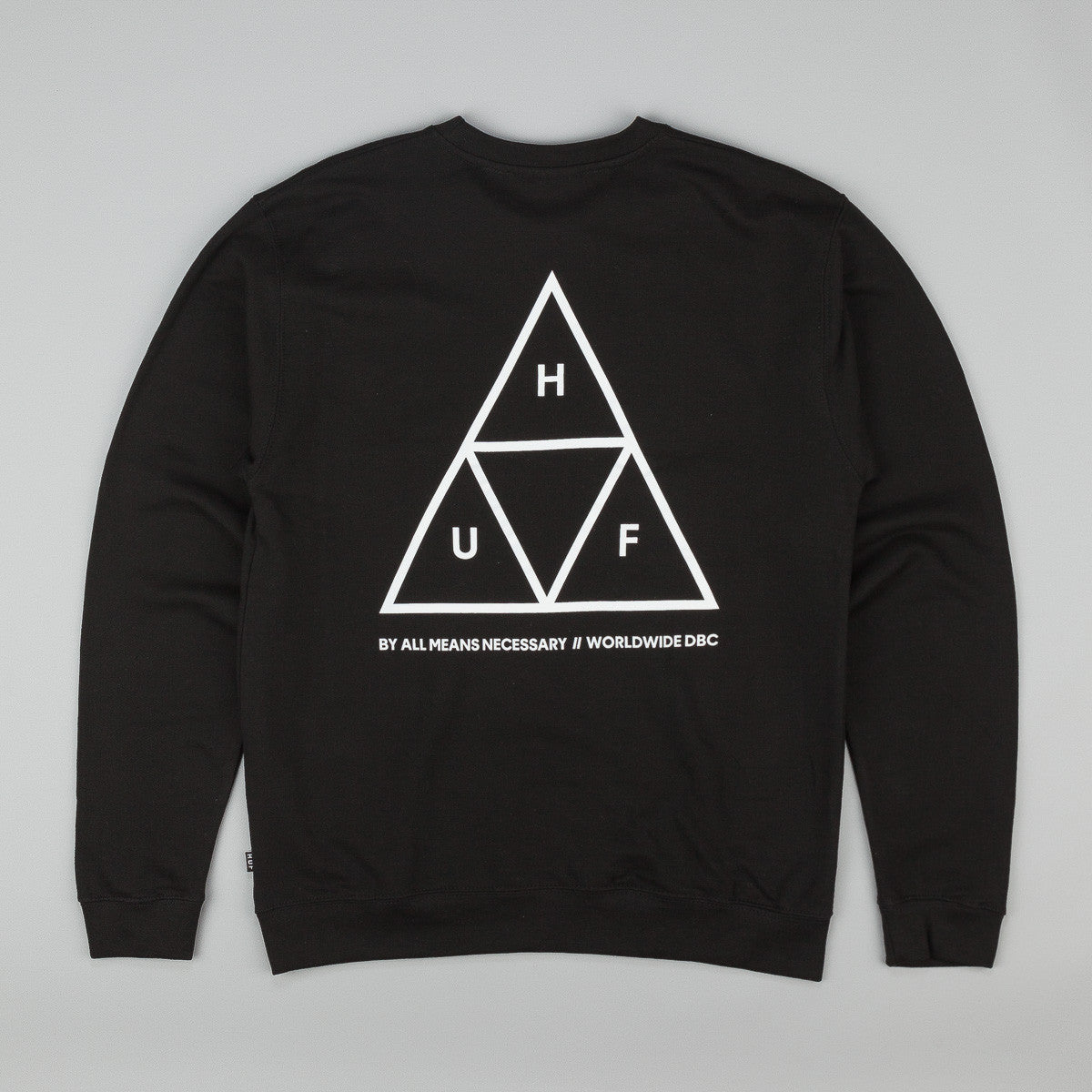 HUF Triple Triangle Crew Neck Sweatshirt - Black