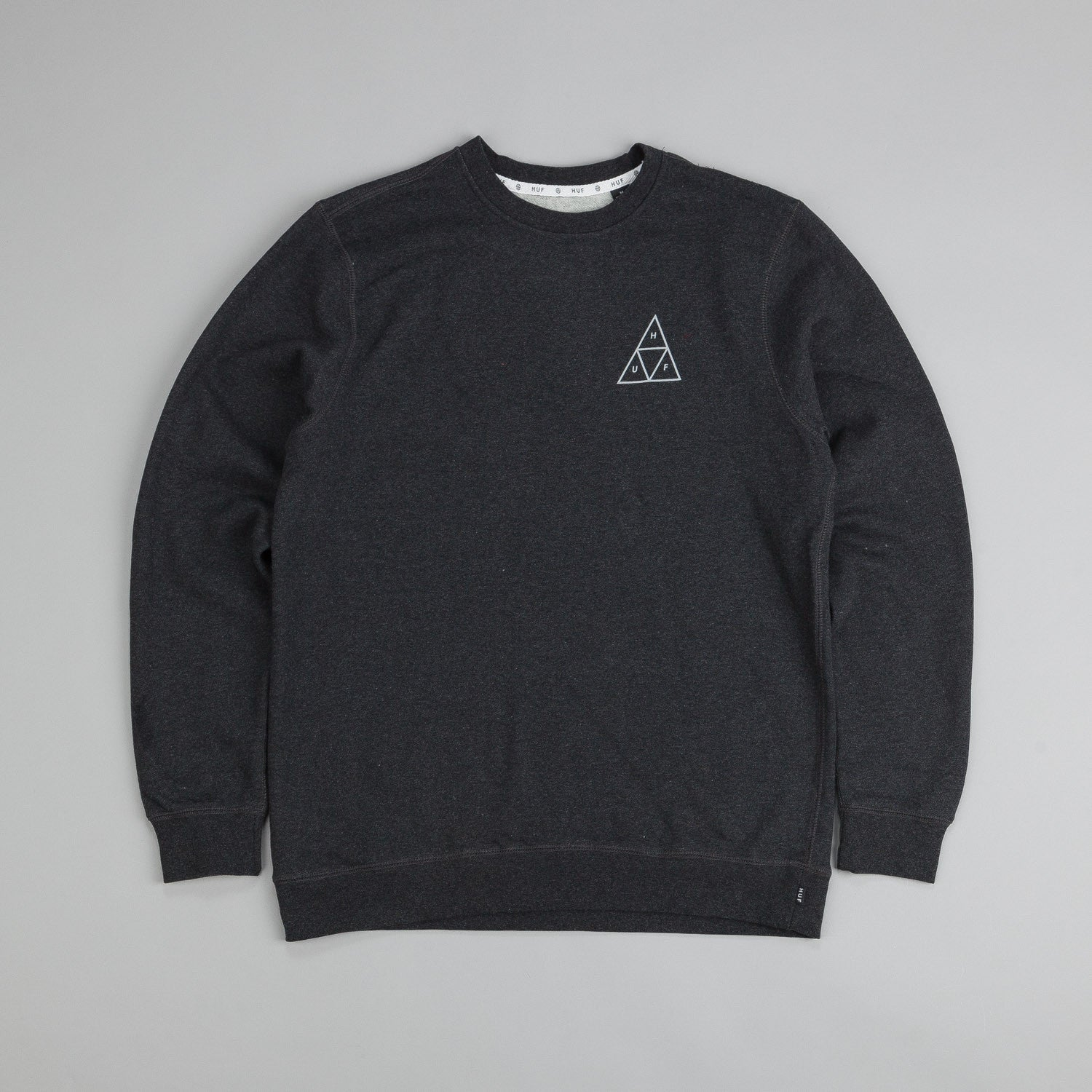 Huf Triple Triangle Crew Neck Sweatshirt Charcoal Heather
