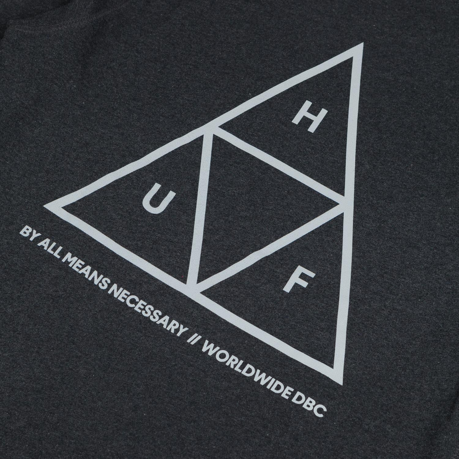 HUF Triple Triangle Crew Neck Sweatshirt - Charcoal Heather