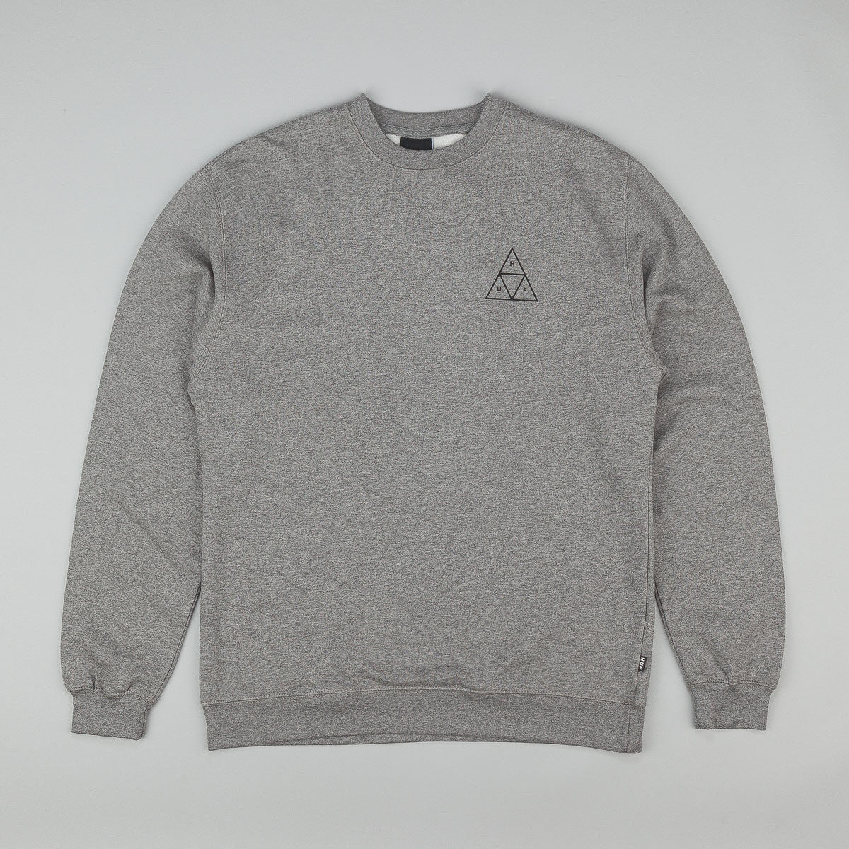 HUF Triple Triangle Crew Neck Sweatshirt - Heather Grey