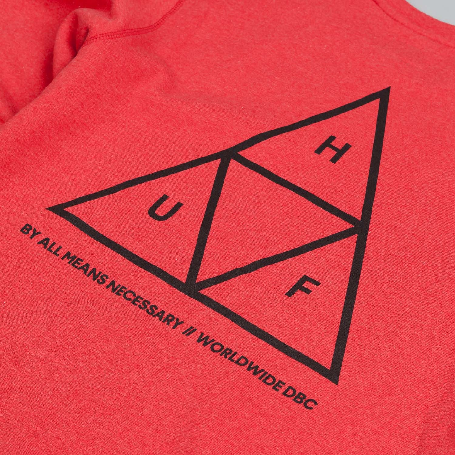 HUF Triple Triangle Crew Neck Sweatshirt Red Heather