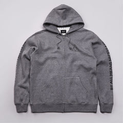 Huf Triple Triangle Fill Zipped Hooded Sweatshirt Gun Metal Heather