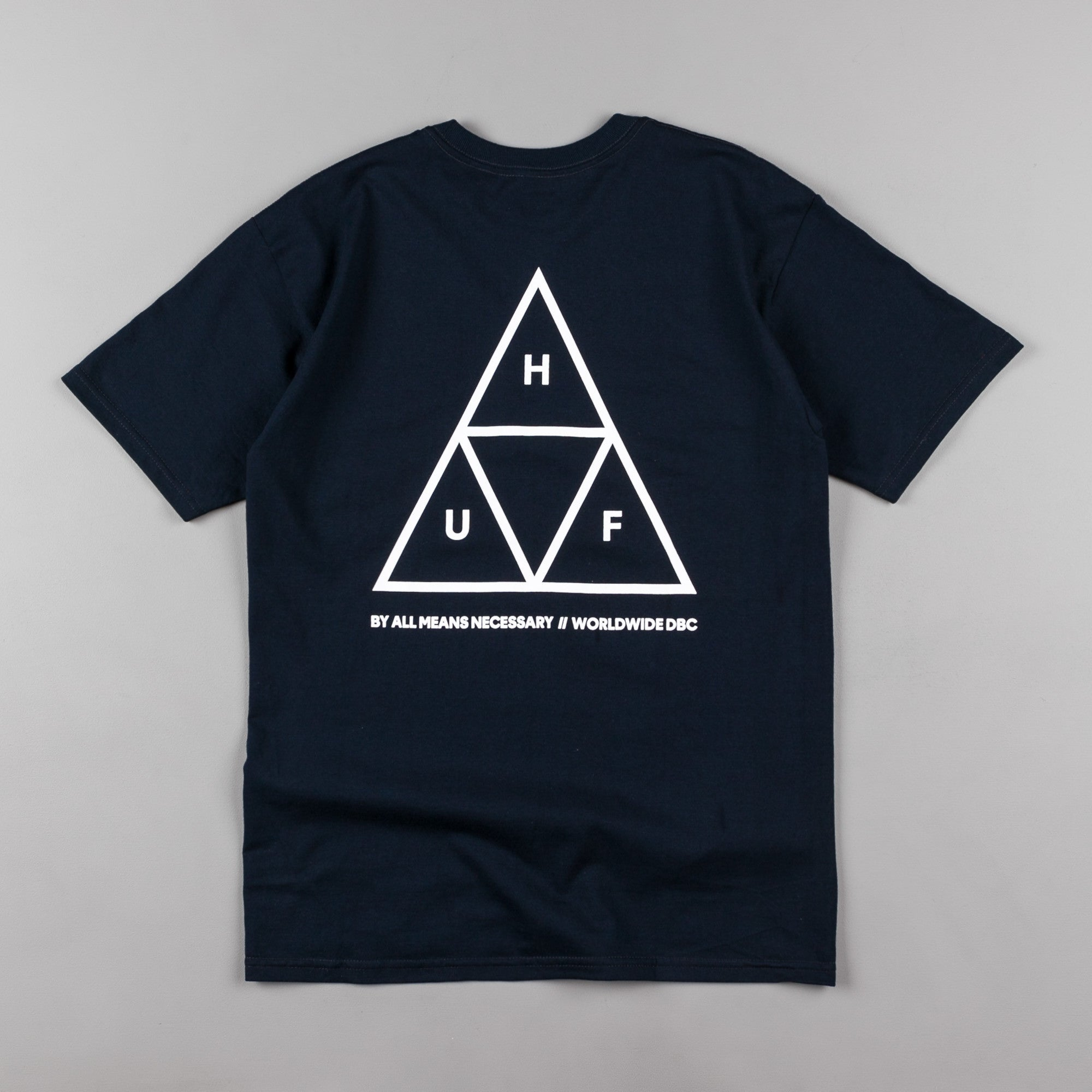 ... HUF Triple Triangle T-Shirt - Navy ...