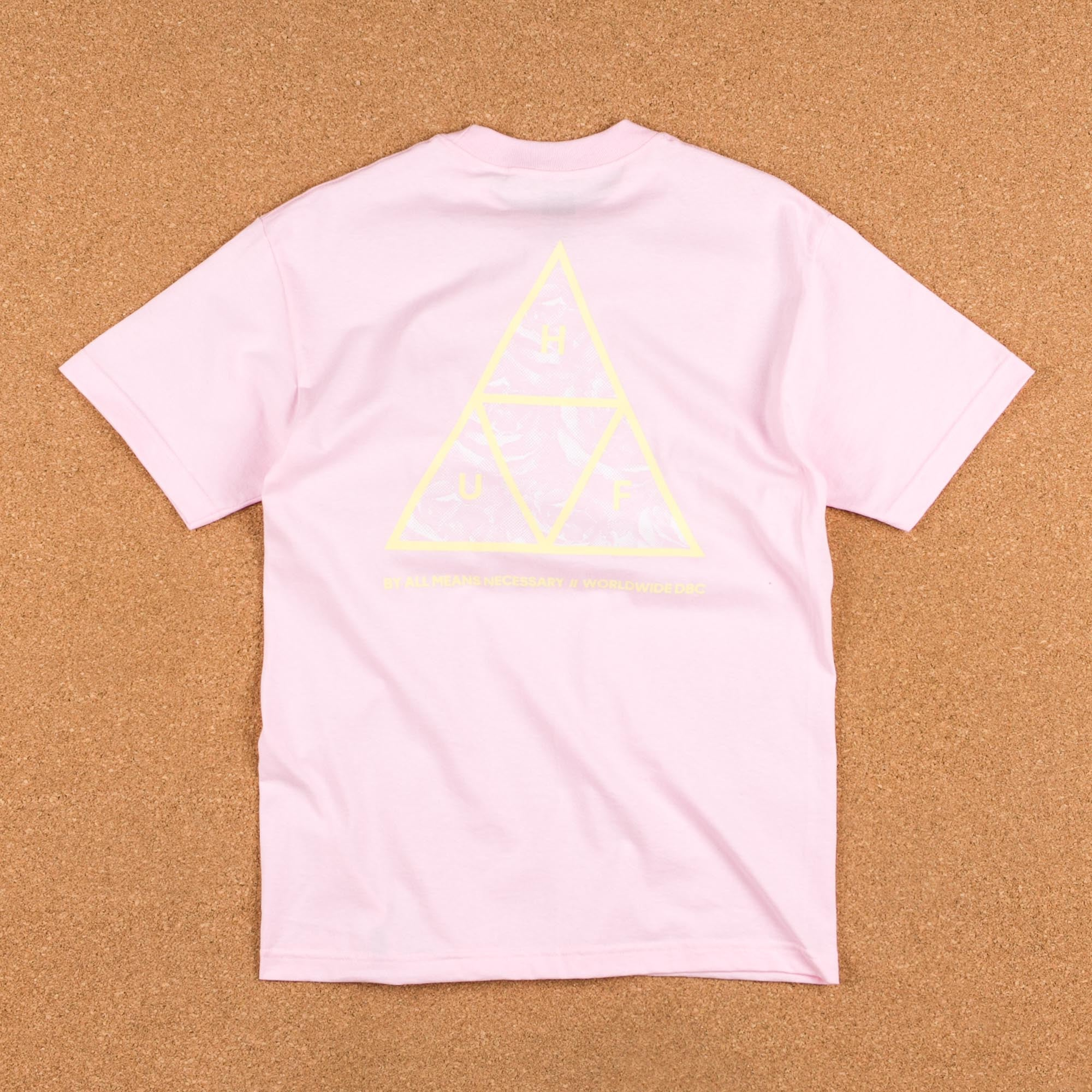 HUF Triple Triangle UV T-Shirt - Pink