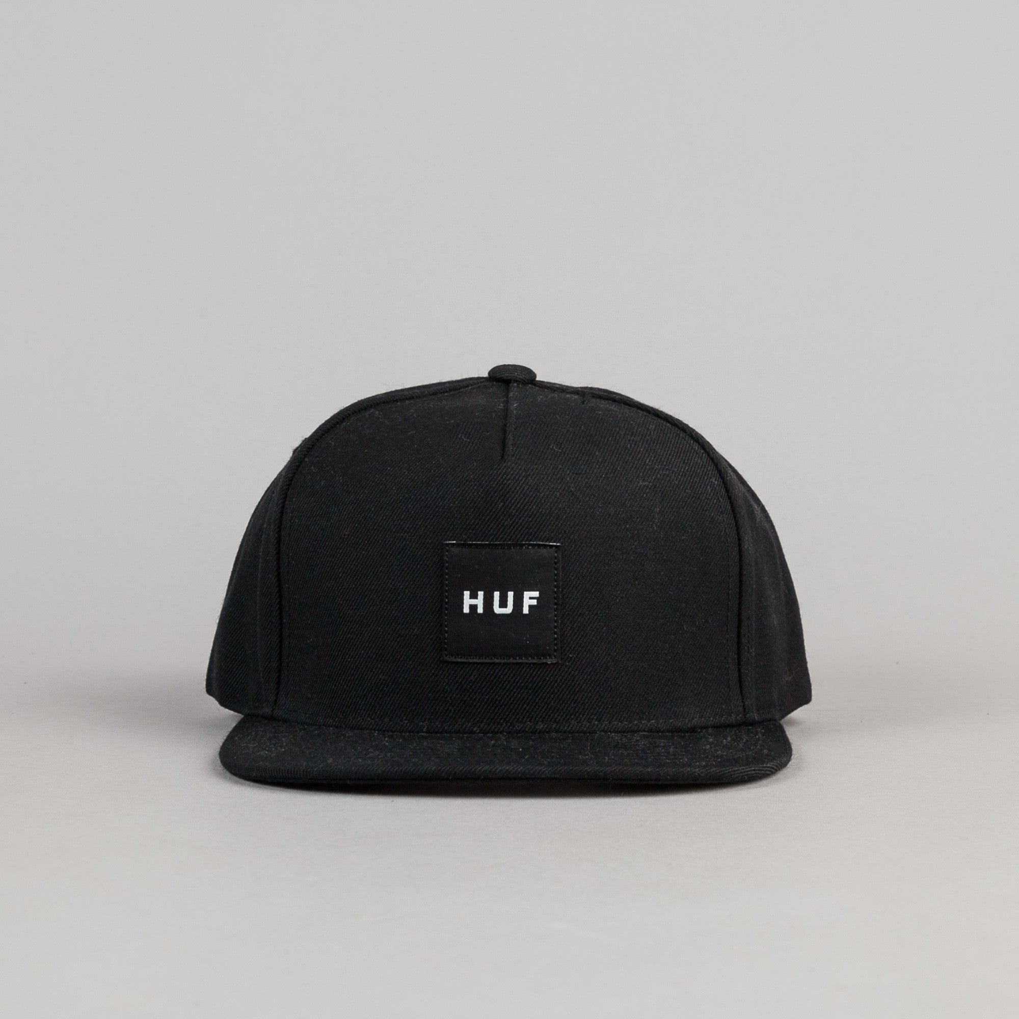 HUF Unstructured Box Logo Snapback Cap - Black