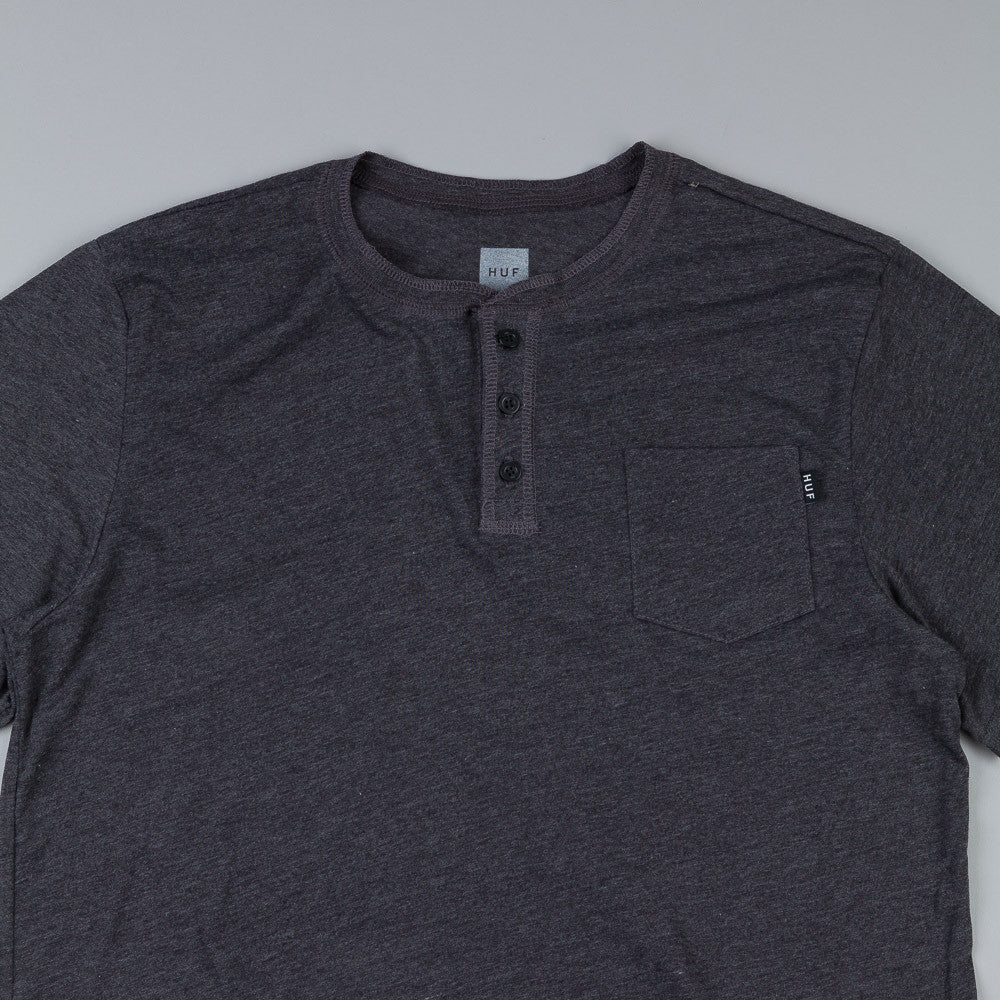 HUF Unravel Henley T Shirt Black
