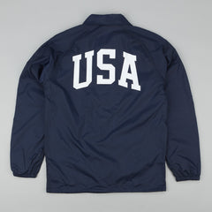 HUF USA Coaches Jacket - Navy