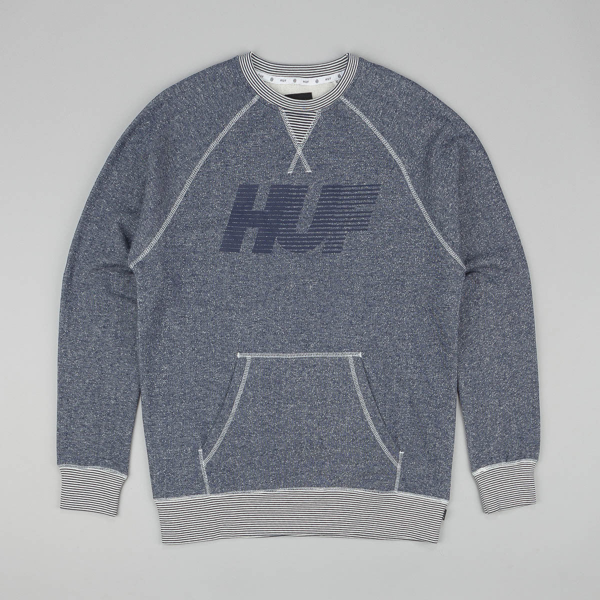 Huf Vintage 10K Crew Sweatshirt Heather Navy