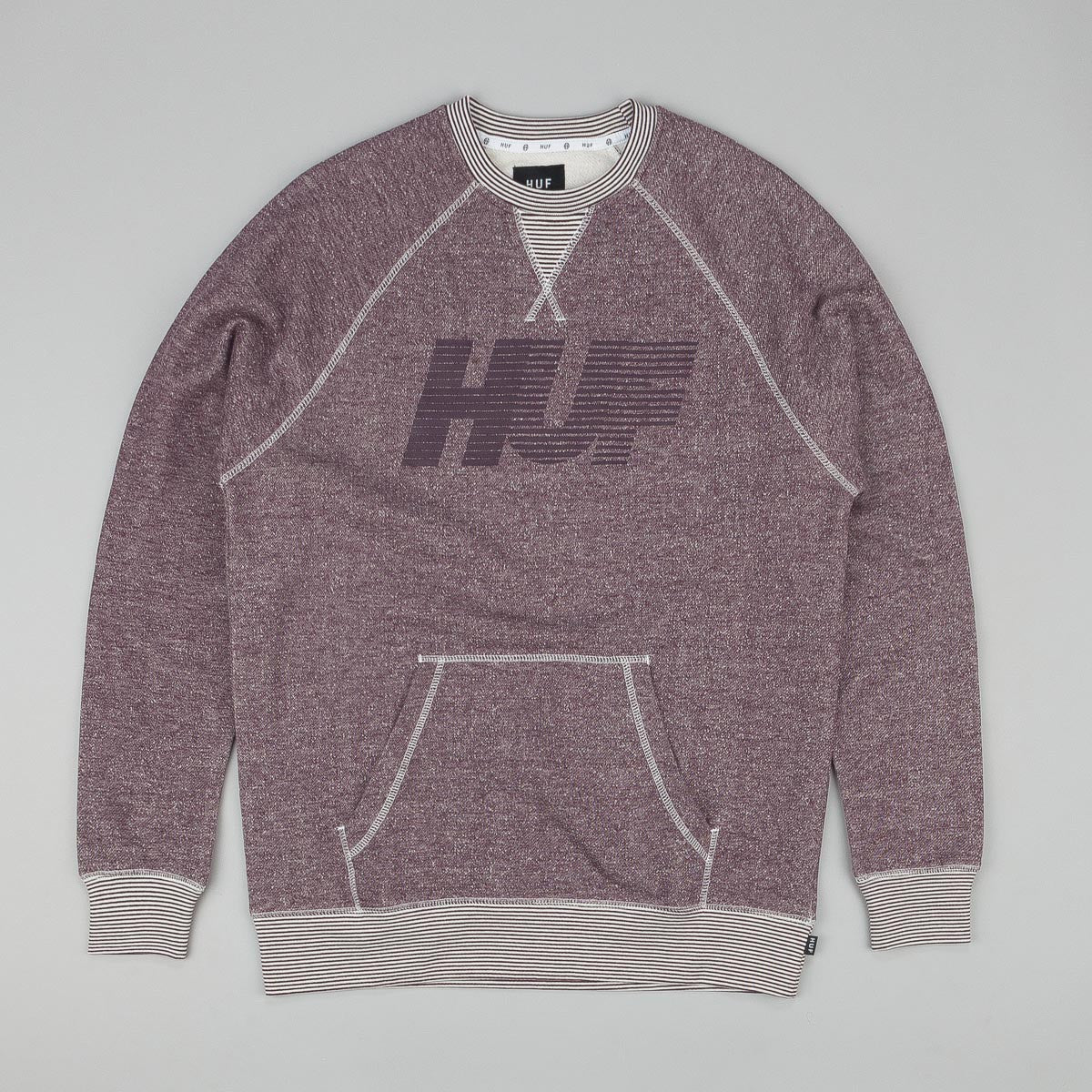 Huf Vintage 10K Crew Sweatshirt Heather Wine