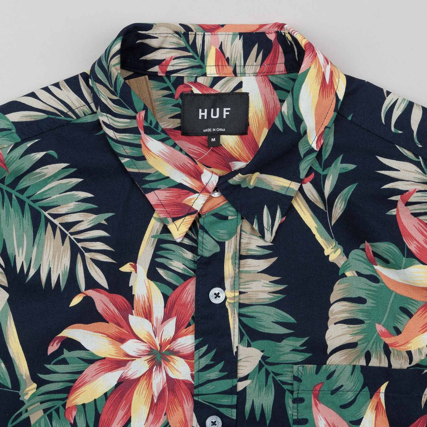 HUF Vintage Tropicana Short Sleeve Button Up Shirt - Black