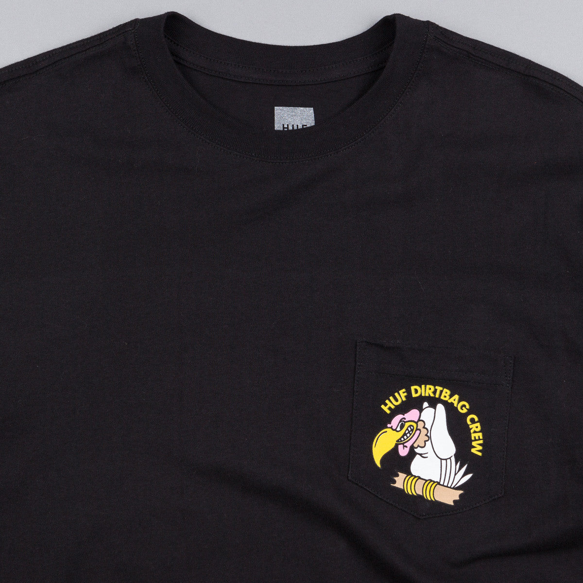HUF Vulture Pocket T-Shirt - Black