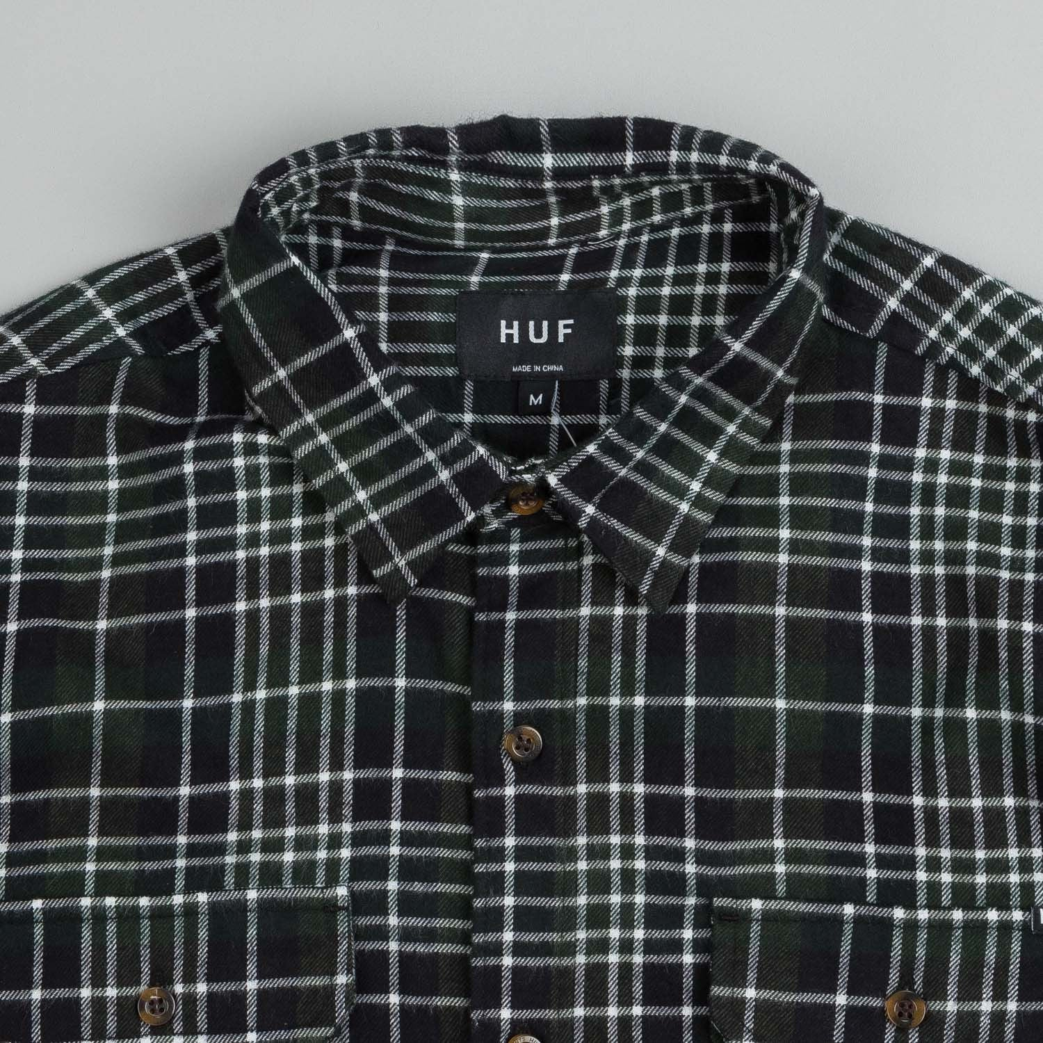 HUF Washington Plaid L/S Flannel Shirt Green