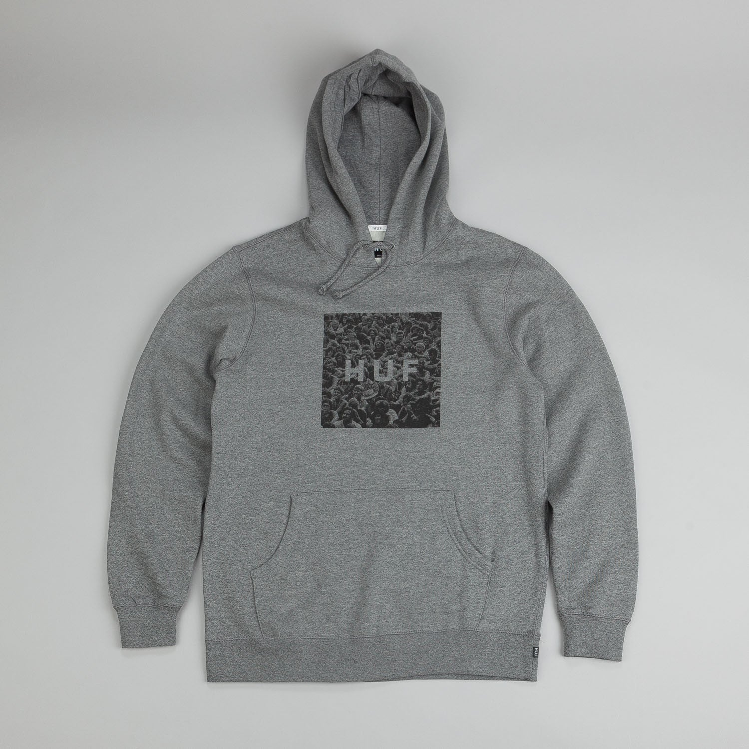 HUF Woodstock Box Logo Hooded Sweatshirt Grey Heather