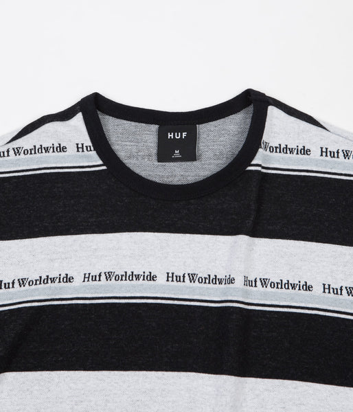 2120825f26 HUF Worldwide Stripe Knit T-Shirt - Black | Flatspot