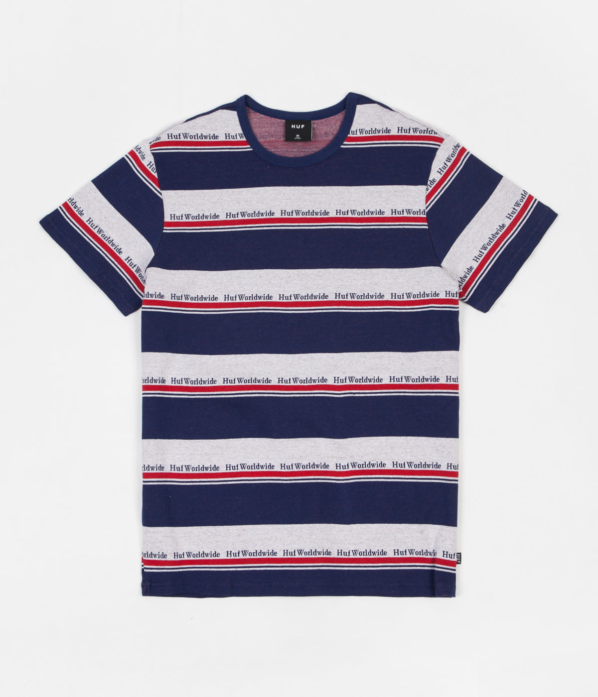 4ad09b6084 HUF Worldwide Stripe Knit T-Shirt - Twilight Blue | Flatspot