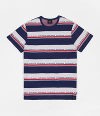 HUF Worldwide Stripe Knit T-Shirt - Twilight Blue