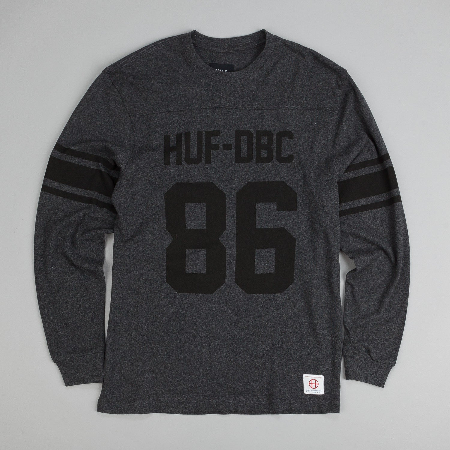 Huf Wrecking Crew L/S Football Jersey Charcoal Heather