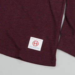 HUF Wrecking Crew L/S Football Jersey Wine Heather