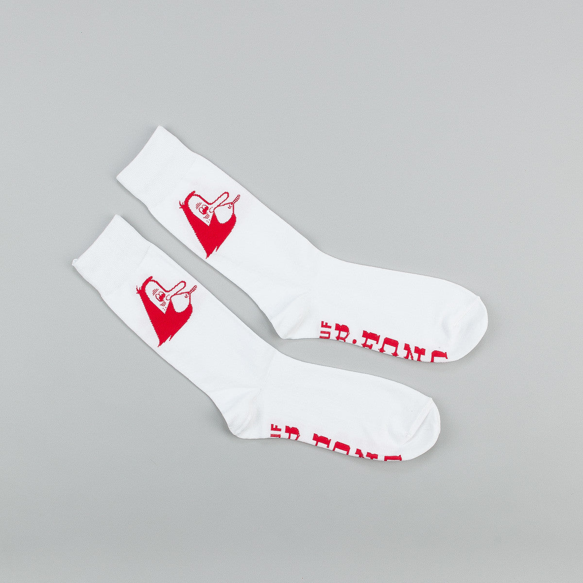 HUF X Barry McGee Socks - White