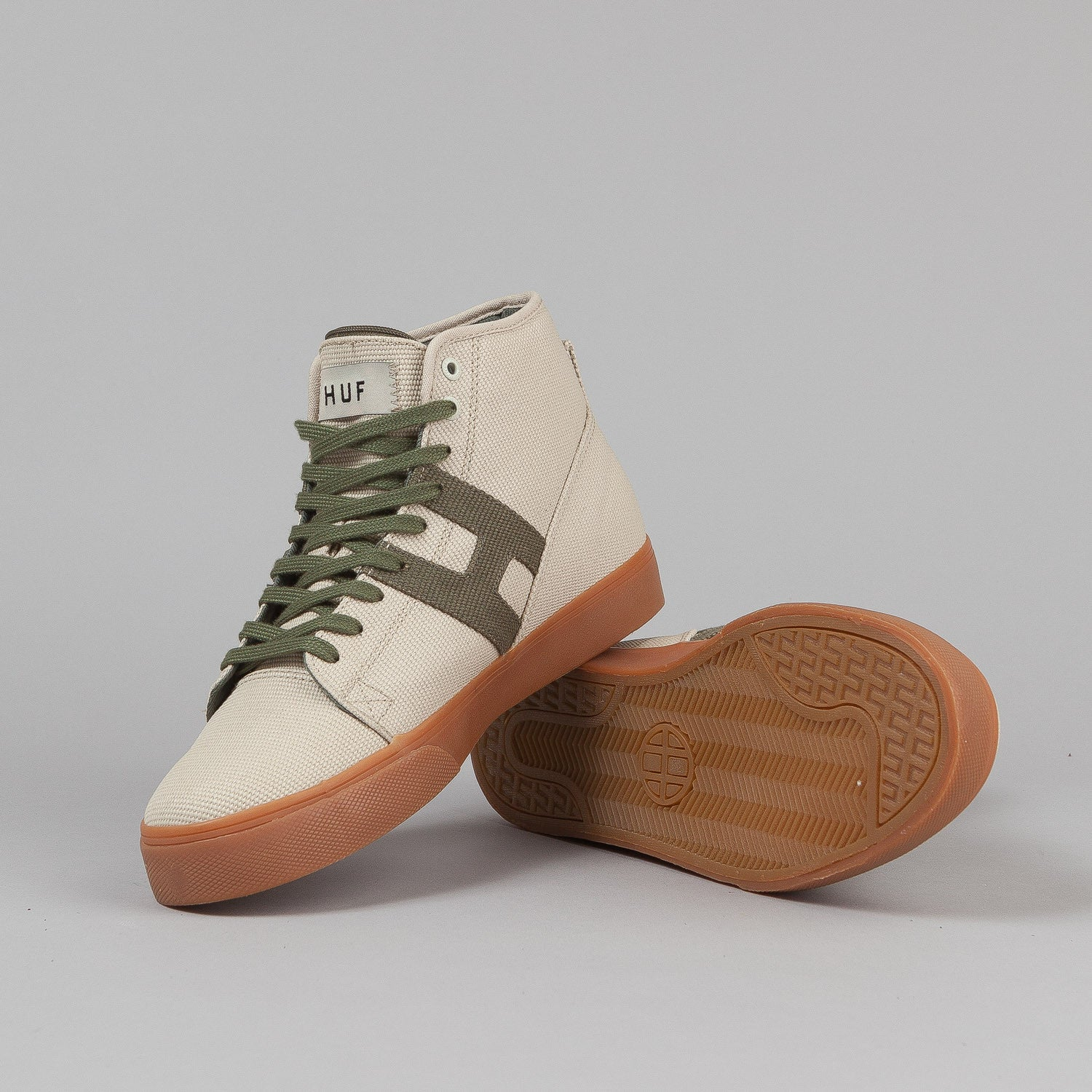 HUF X High Times Hupper Shoes - Natural / Moss