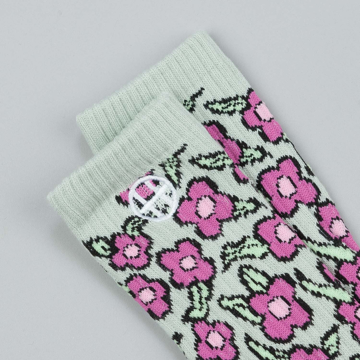HUF X Krooked Flowers Socks - Taragon