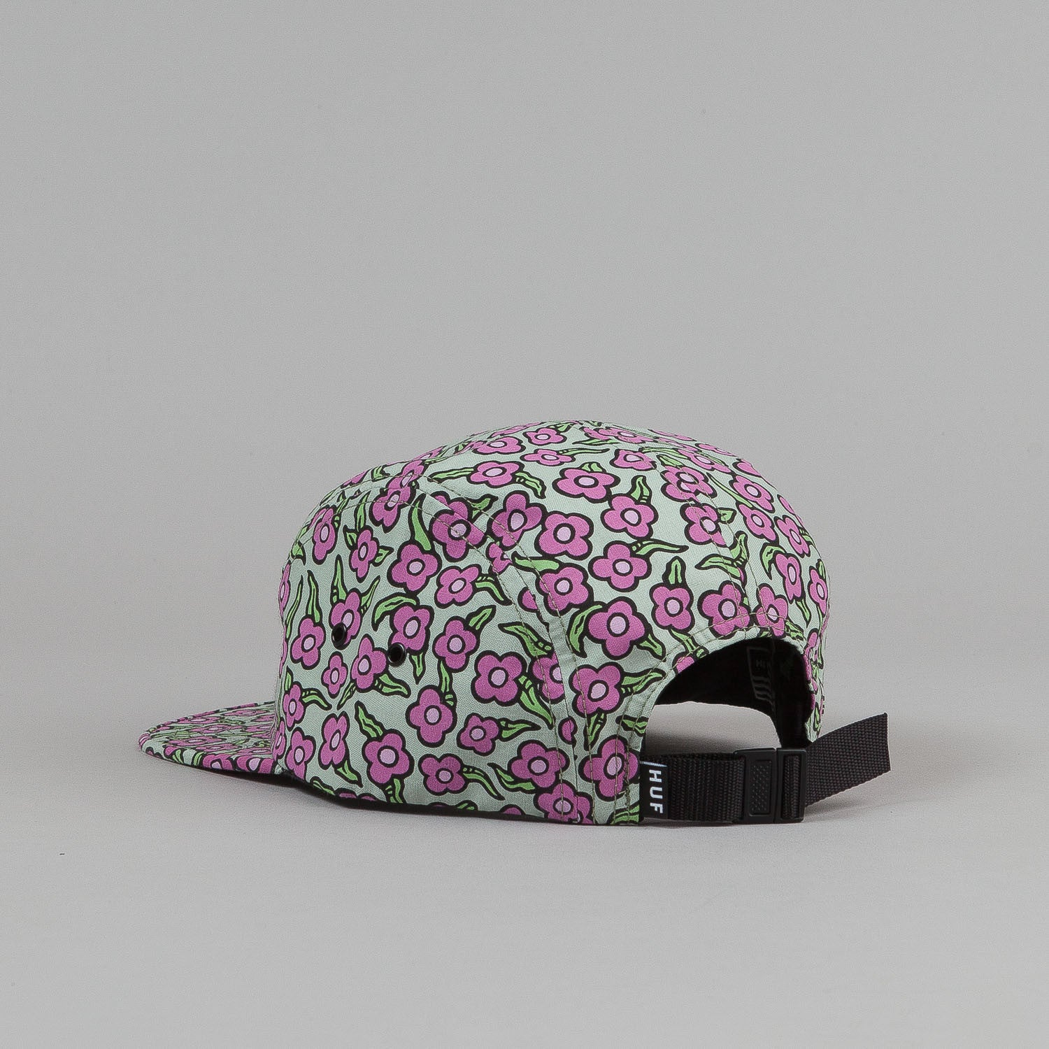 HUF X Krooked Flowers Volley Cap - Taragon