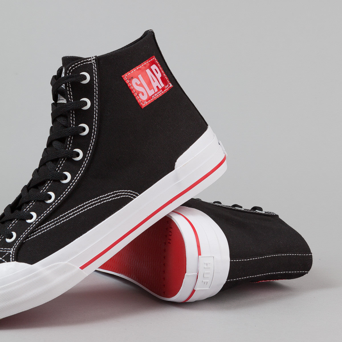 HUF x Slap Classic Hi Shoes - Black / White