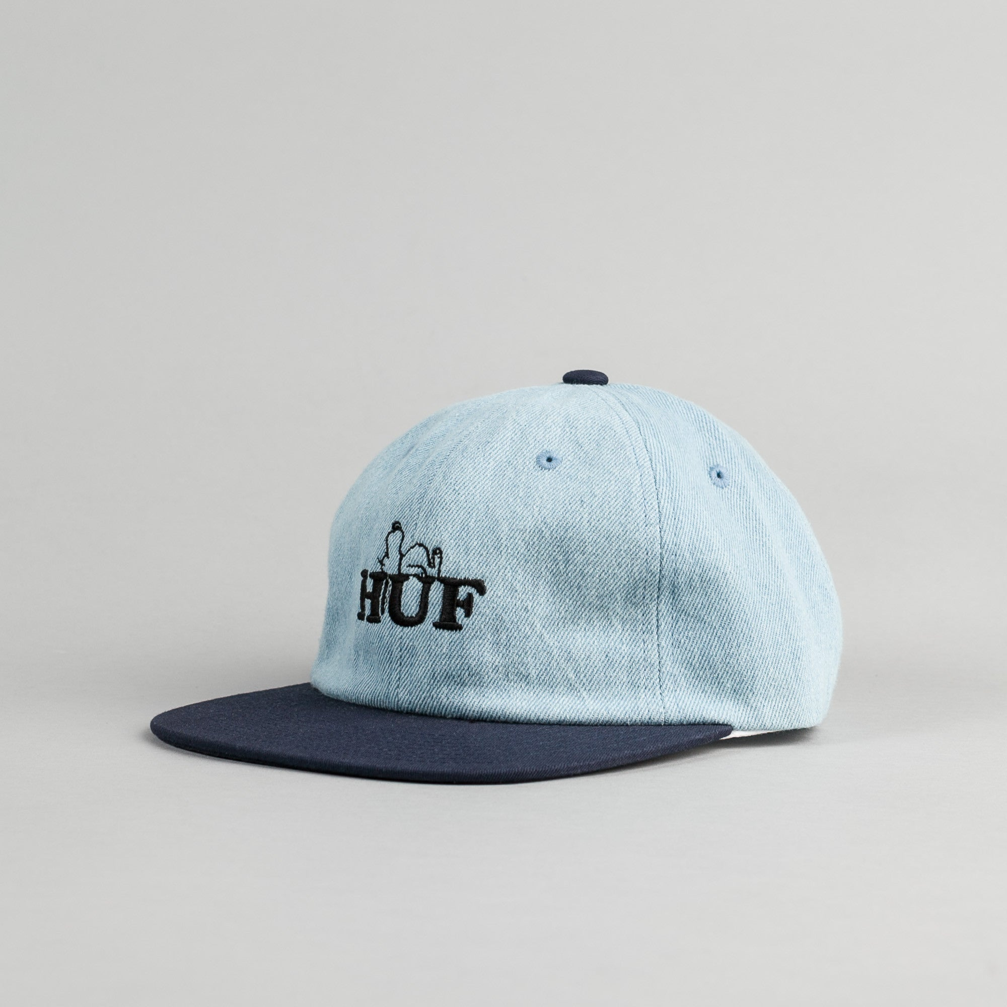HUF x Snoopy 6 Panel Cap - Denim / Navy
