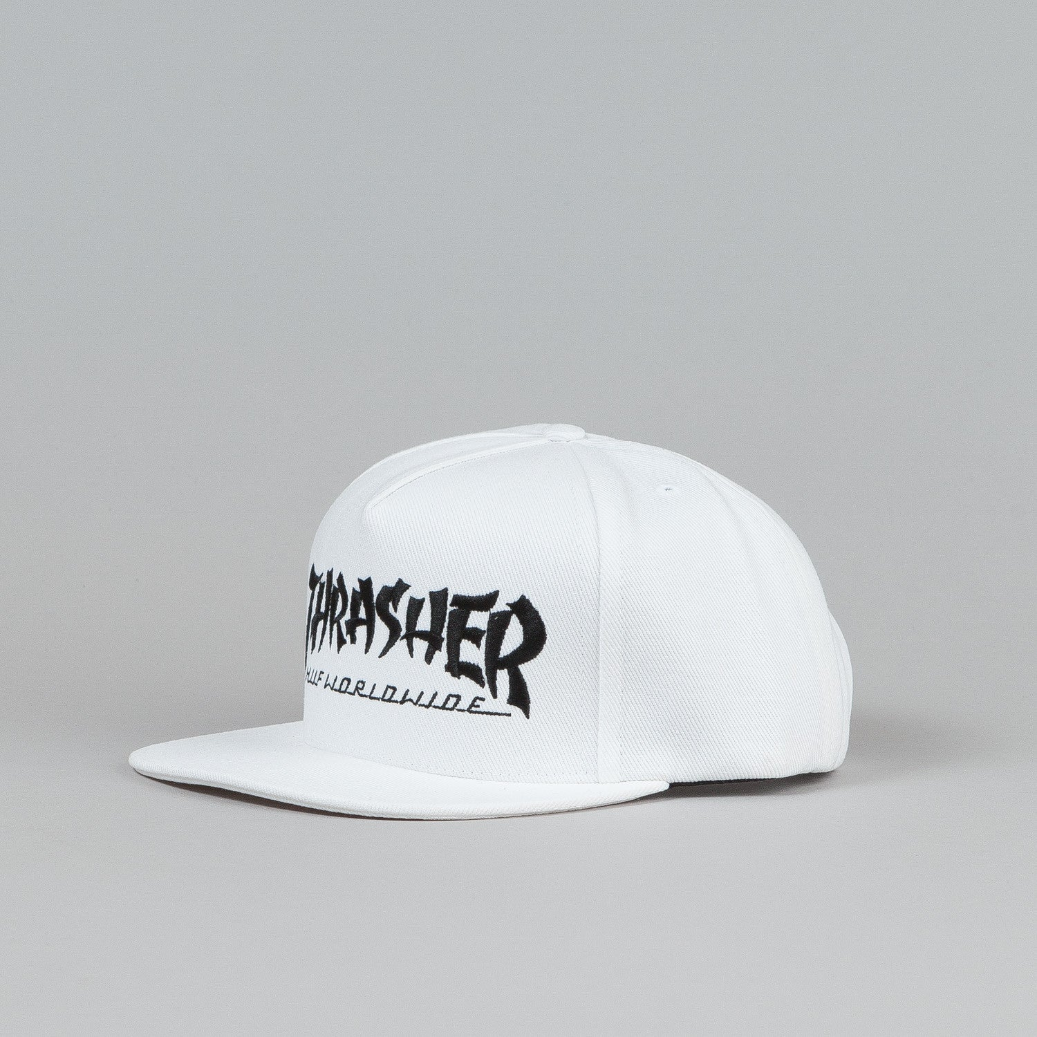 Huf X Thrasher Asia Tour Snapback Cap White Denim