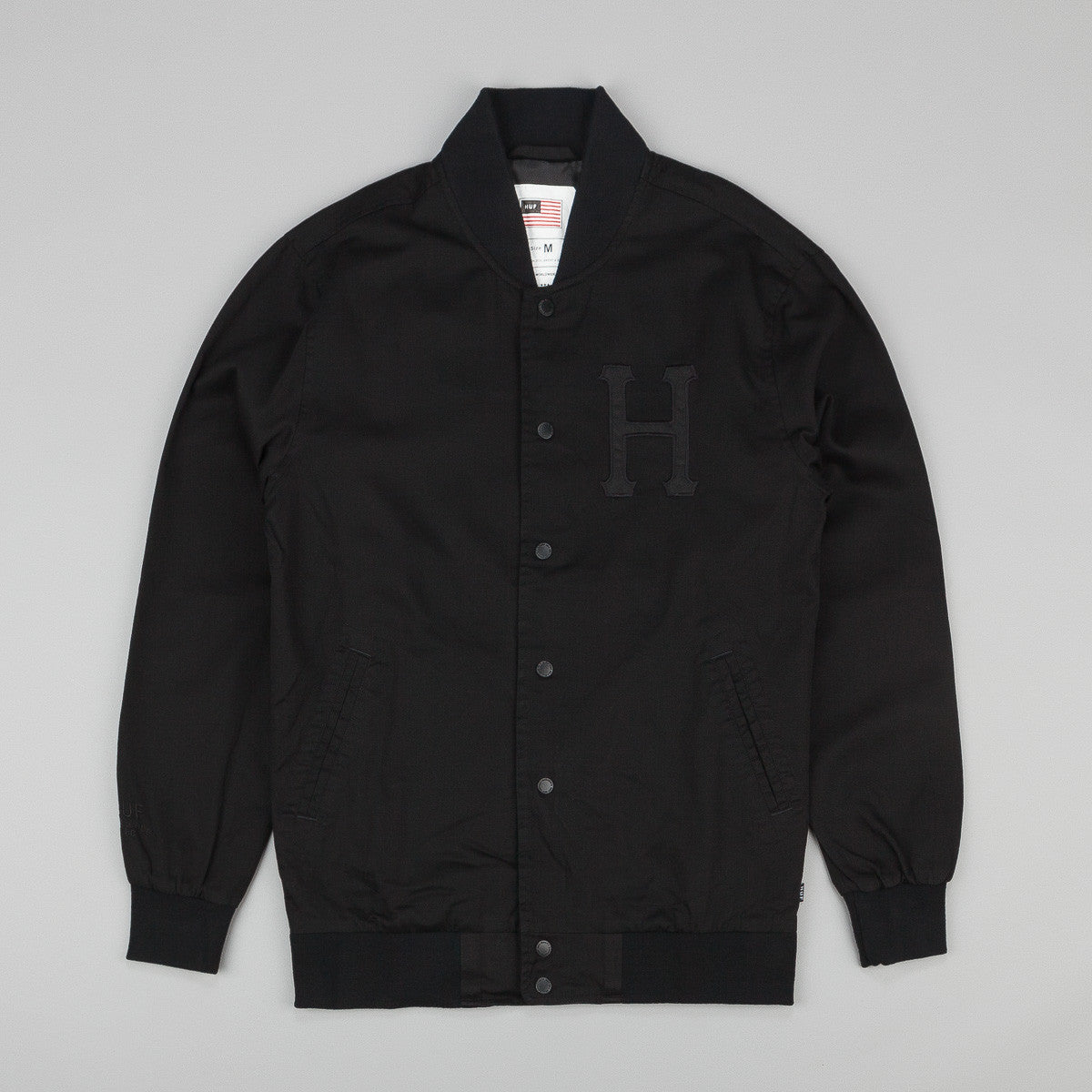Huff x Thrasher Baseball Jacket - Black
