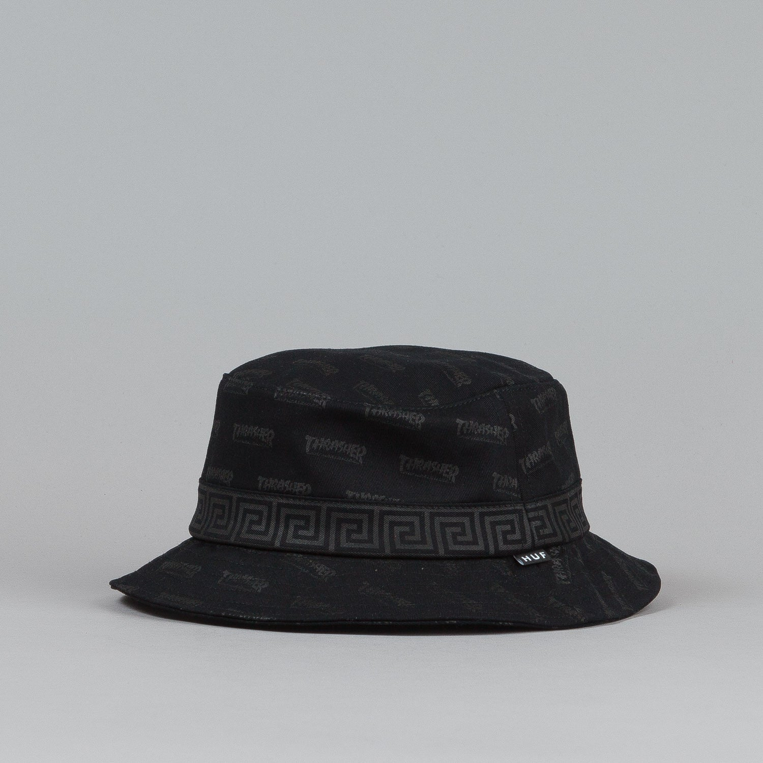 Huf X Thrasher Bucket Hat Black