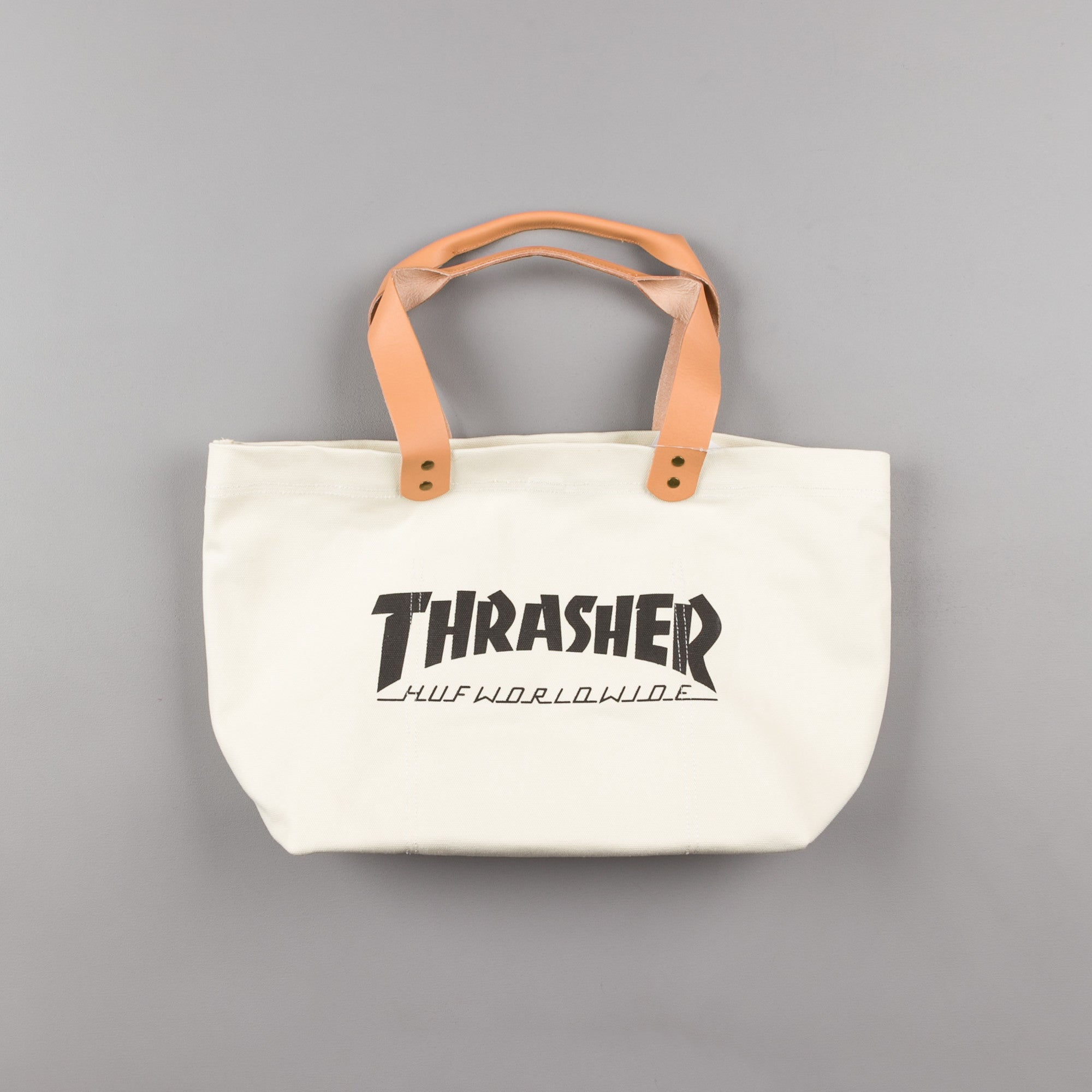 HUF x Thrasher Canvas Tote Bag - White