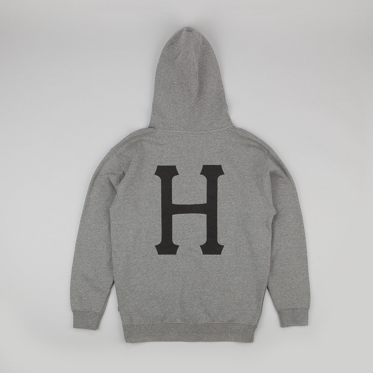 HUF x Thrasher Classic H Pullover Hooded Sweatshirt - Heather Grey