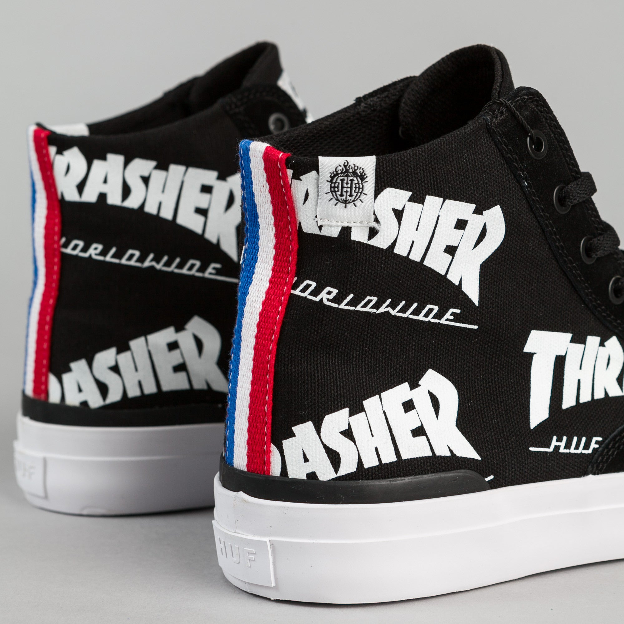 HUF x Thrasher Classic Hi Shoes - Black