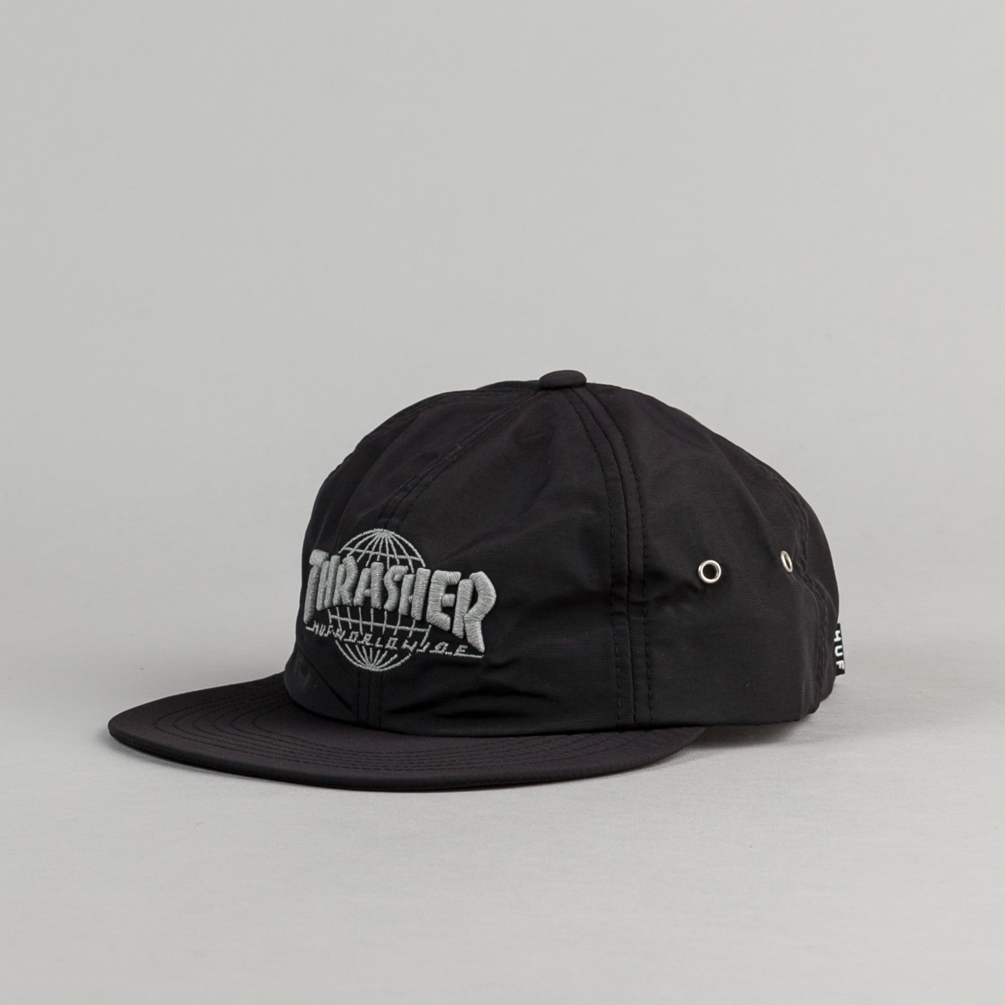 5bbc2bf5588 HUF x Thrasher TDS 6 Panel Cap - Black