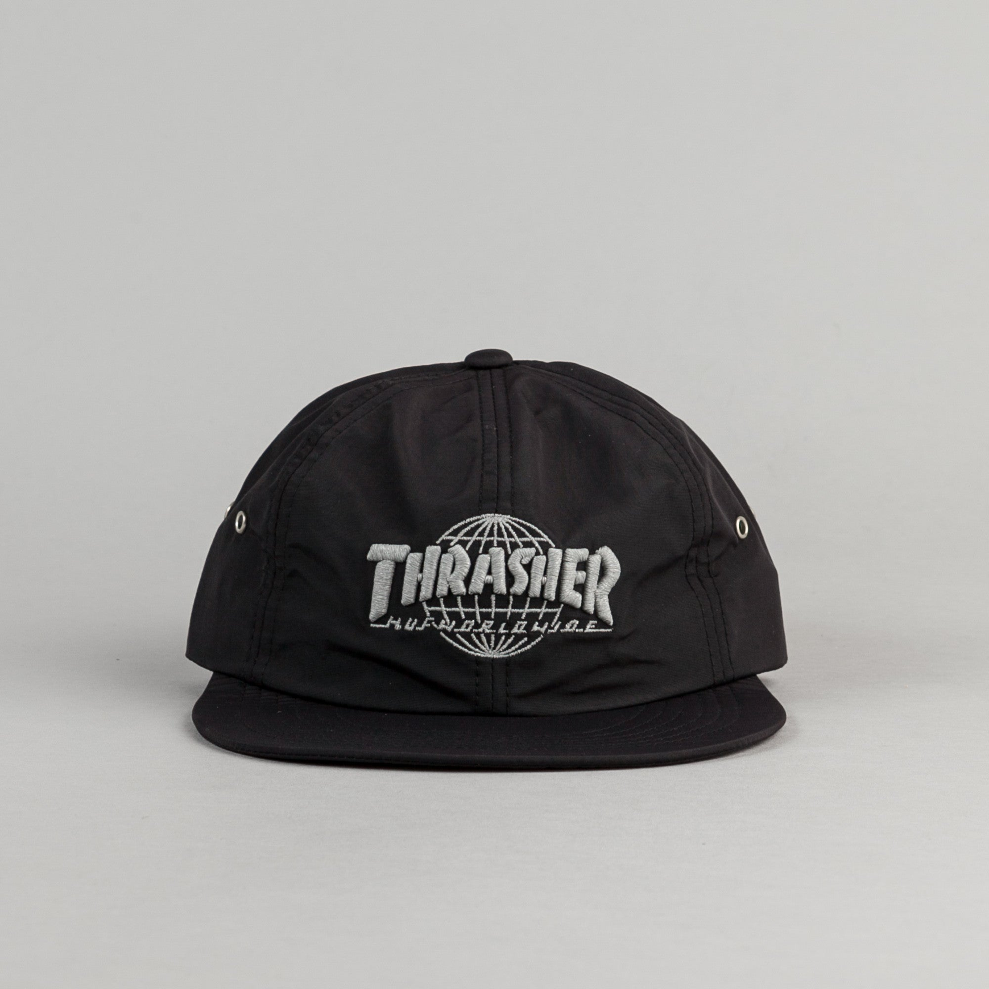b5c95124678 ... HUF x Thrasher TDS 6 Panel Cap - Black ...