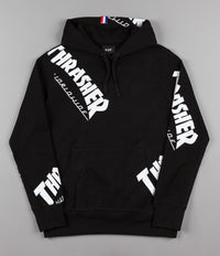 HUF x Thrasher TDS Allover Hooded Sweatshirt - Black